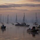 Ghostly boats in fog by Poete100