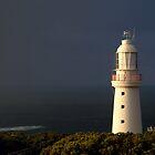 Sunrise Rain,Light Station Cape Otway on Bass Strait by Joe Mortelliti