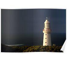 Sunrise Rain,Light Station Cape Otway on Bass Strait Poster