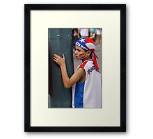 Small Puerto Rican patriot Framed Print