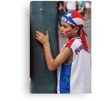 Small Puerto Rican patriot Canvas Print