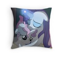 Sister Love Rarity and Sweetie Belle Throw Pillow