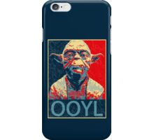 Star Wars Inspired - YODA - Only Once You Live - YOLO - Pop Art Yoda - Sheppard Fairey-Style iPhone Case/Skin