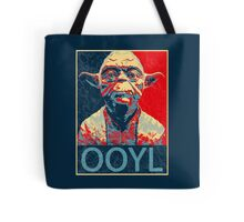 Star Wars Inspired - YODA - Only Once You Live - YOLO - Pop Art Yoda - Sheppard Fairey-Style Tote Bag