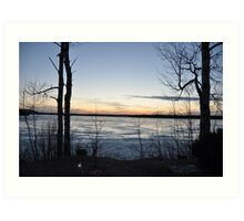 Sun setting over Porcupine Lake Art Print