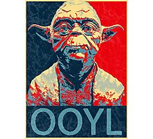 Star Wars Inspired - YODA - Only Once You Live - YOLO - Pop Art Yoda - Sheppard Fairey-Style Photographic Print