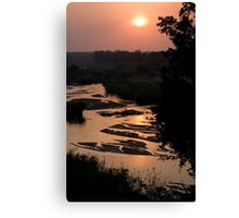 Sunrise Over Sabi River Canvas Print