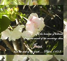 Psalm 110 Medium Poster Wide Reflections on The Purity of Jesus by manna