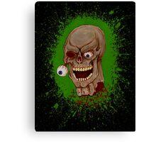 Toxic Zombie Splatter Canvas Print