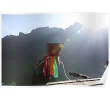 Long tail sunrise - Thailand Poster