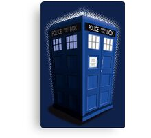 Blue Box Toon Canvas Print