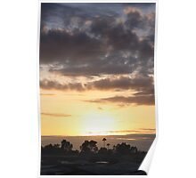 Smoggy Sunset Poster