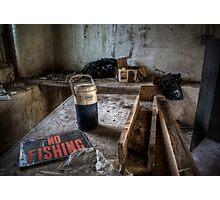 NO FISHING Photographic Print