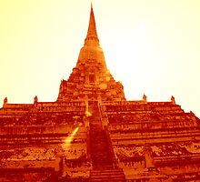 Twisted temple, Ayutthaya, Thailand by jimitaylor