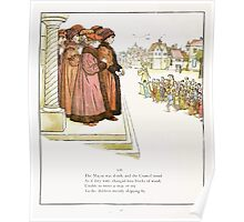 The Pied Piper of Hamlin Robert Browning art Kate Greenaway 0045 Children Merrily Skipping By Poster