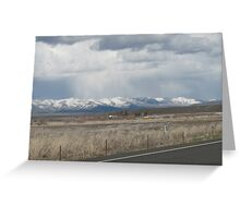 Last Snow Storm over Tool Mountain? Greeting Card