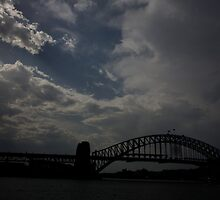 Passing storm - Sydney Harbour by Adam Smith