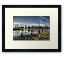 With Water Like Glass Framed Print