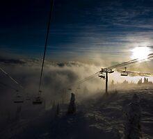 Going Through - Big White Ski Resort by Adam Smith