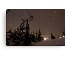Spiral chairlift - Big White Ski Resort Canvas Print