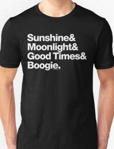 Sunshine, Moonlight & Boogie Ampersand Helvetica Getup T-Shirt