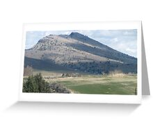 Masked Gorilla Head Rock over Mt. Vernon, OR,USA Greeting Card
