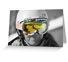 Sunshine through goggles - big white ski resort Greeting Card
