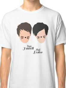 Phil Lester and Dan Howell (with text) Classic T-Shirt