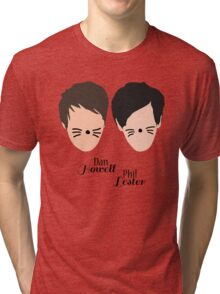 Phil Lester and Dan Howell (with text) Tri-blend T-Shirt