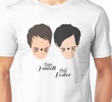 Phil Lester and Dan Howell (with text) Unisex T-Shirt