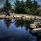 A Photographer Photographing A Photographer Photographing A Pond by Eric Scott Birdwhistell