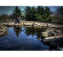 A Photographer Photographing A Photographer Photographing A Pond Photographic Print