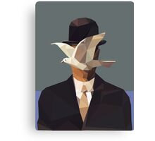 The Man In The Bowler Hat -Magritte- Canvas Print