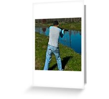 Taking Aim Greeting Card