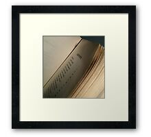 Twilight contents Framed Print