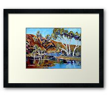 The Flinders Ranges After The Rains - Oil Painting Framed Print