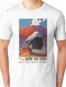 Empire State Express Vintage Poster Restored Unisex T-Shirt
