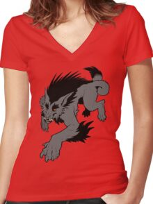 Werewolf Women's Fitted V-Neck T-Shirt
