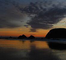 WhalesHead Beach Sunset,  Oregon by Greg Badger