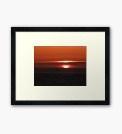 An Excuse for a Sunrise Framed Print