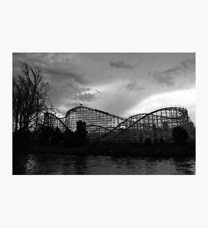 Roller coaster in Denver Photographic Print