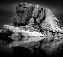 Sounds of Silence #1 - Glacier  (Jökulsárlón) Lagoon Iceland  by angelena rebori