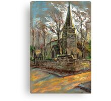 St Michael Church in Breaston, Derbyshire, UK Canvas Print
