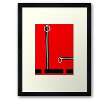 Captain Scarlet Blue Grey WHATEVER Framed Print