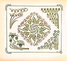 Maurice Verneuil Georges Auriol Alphonse Mucha Art Deco Nouveau Patterns Combinaisons Ornementalis 0012 by wetdryvac