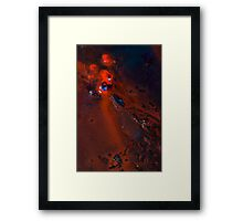 Bright Red Erosion Framed Print