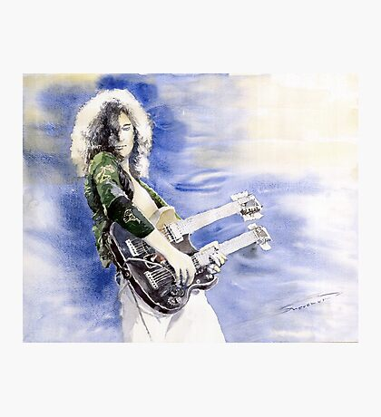 Led Zeppelin Jimi Page Photographic Print