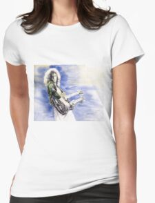 Led Zeppelin Jimi Page Womens Fitted T-Shirt