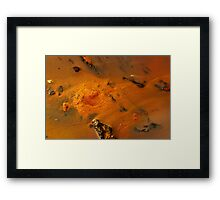 Golden River, Alien world. Framed Print