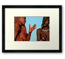 Ovahimba Framed Print